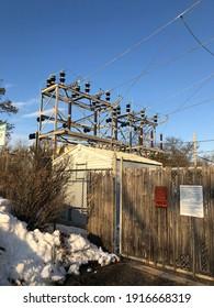 Garden City, New York, USA - February 5, 2021: Power Station