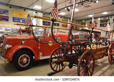 GARDEN CITY, NY - APR 22: Nassau County Firefighters Museum in Garden City on Long Island in New York, USA, as seen on April 22, 2018.