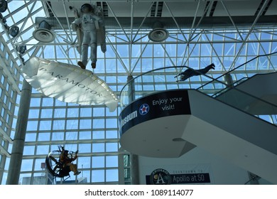 GARDEN CITY, NY - APR 22: Cradle of Aviation Museum in Garden City on Long Island in New York, USA, as seen on April 22, 2018.