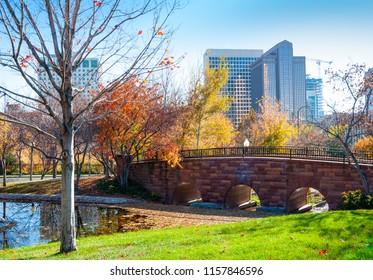 Garden in city, Salt Lake City, Utah, U.S.A.