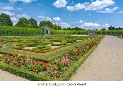 Garden of Crown Prince Rudolph. Schonbrunn Palace and Park Ensemble. Vienna. Austria. 06/25/2015. The garden is located in the eastern part of Sch?nbrunn Palace. There are citrus trees in the garden