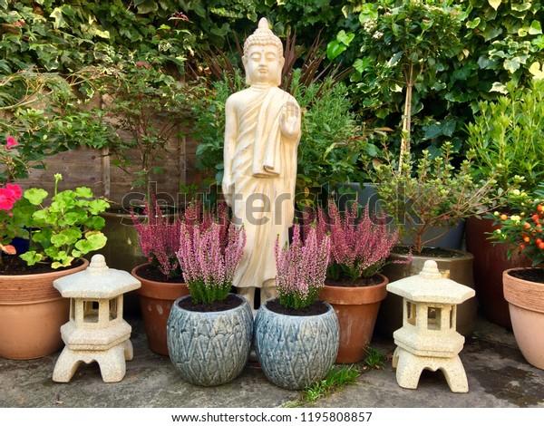 Garden Design Buddhist Elements Nature Parks Outdoor Stock Image