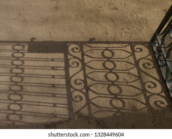 Garden door shadow.