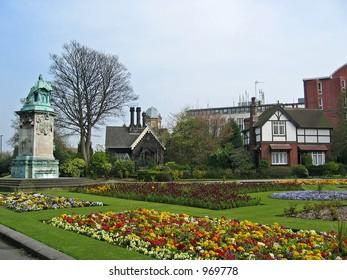 Garden during Spring time in UK