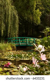 The garden of the famous painter Claude Monet, where he painted his water lilies