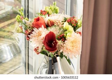 garden flowers on vase