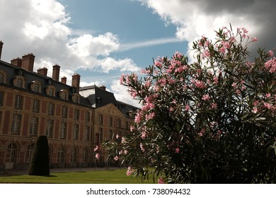 The garden of Fontainebleau Palace in France