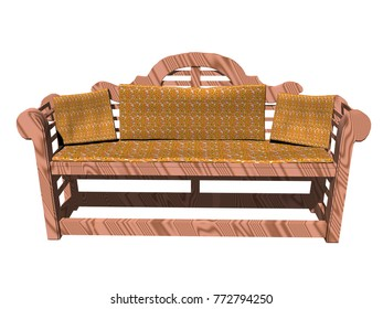 garden furniture 3D rendering