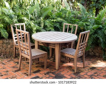 Garden furniture, table, chairs