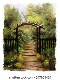 Garden Gate torn edges