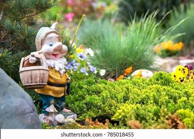 Garden gnome in english garden