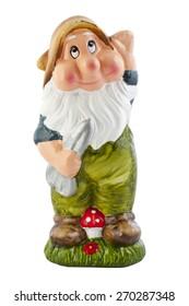 garden gnome isolated on white