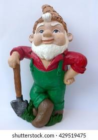 Garten-Gnome mit Schaufel