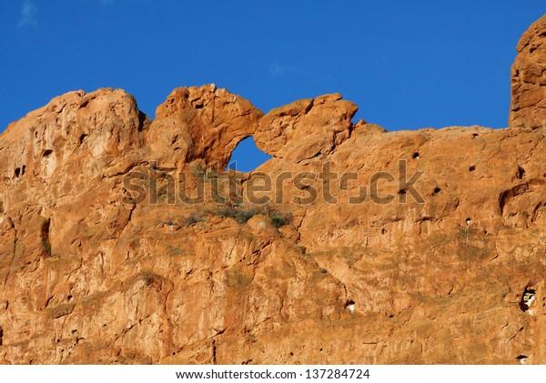 Garden Gods Colorado Springs Kissing Camels Stock Image