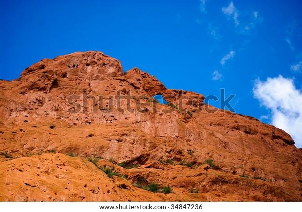 Garden Gods Kissing Camels Rocks Colorado Stock Photo Edit