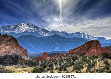 Garden of the Gods park in Colorado.
