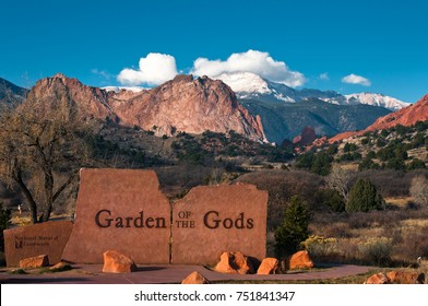 Garden of the Gods Park East Entrance at Colorado Springs