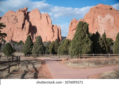 The Garden of the Gods is a popular scenic, outdoor park for biking, walking and rock climbing. It has a nature, bike and  handicap accessible trail and walking trail in Colorado Springs, CO, USA.