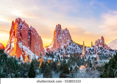 Garden of the Gods at Sunrise