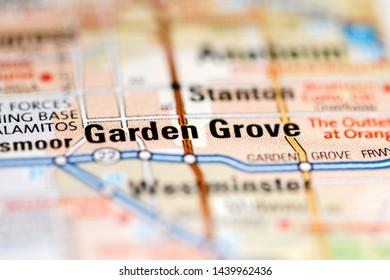 Garden Grove. California. USA on a geography map
