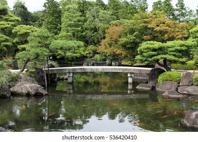 Garden, Himeji Castle, Japan