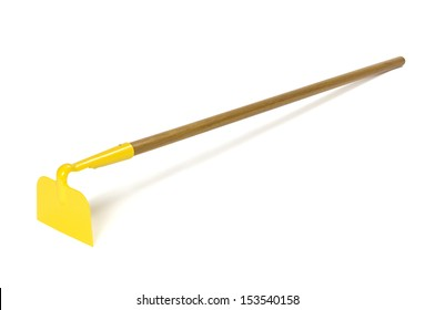 Garden hoe with shadow isolated on white. Clipping path included.