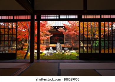 Garden at Kenninji Temple, kyoto , japan