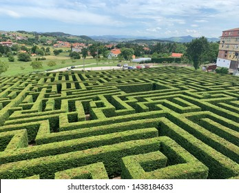 Garden labyrinth in Cantabria, Spain