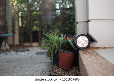 garden lamp look sleepy or no energy  on staircase