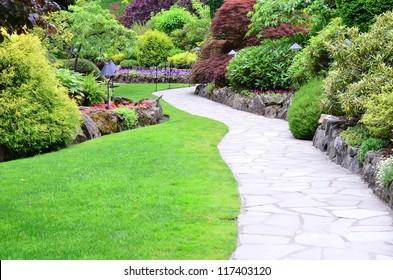 Garden landscape - Shutterstock ID 117403120