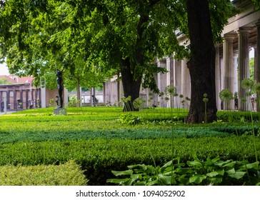 garden landscape in town