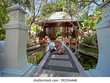 Garden in Maldive Island