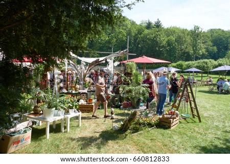 Garden Market On Holiday Garden Market Stock Photo (Edit Now ...