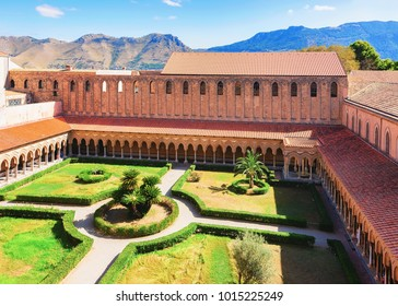 Garden at Monreale Cathedral, Sicily, Italy
