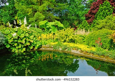 A garden  near to Ambleside in summer, The Lake District, Cumbria, England, UK