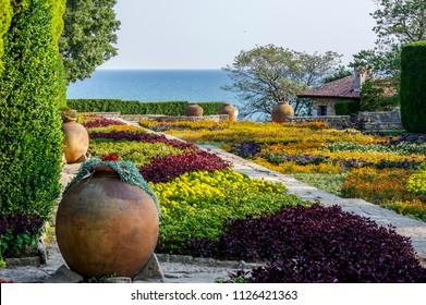 Garden overlooking the Black Sea - Queens garden, Balchik, Bulgaria, September 2016