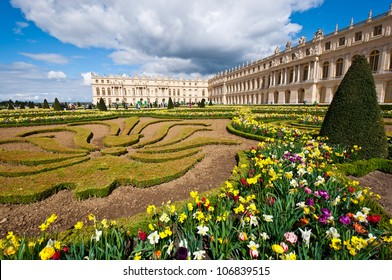 Garden of Palace of Versailles (Chateau de Versailles) in Paris, France