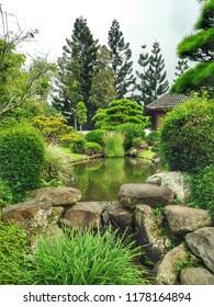 Garden park pool taman bunga nusantara cipanas indonesia