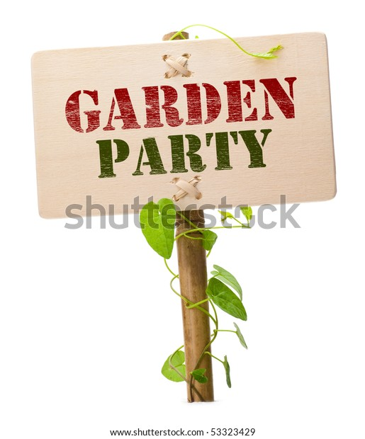 Garden Party Invitation Card Message On Stock Photo Edit