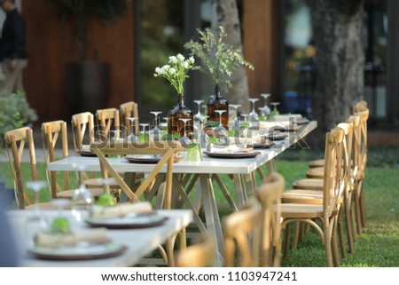 Garden Party Setup Stock Photo Edit Now 1103947241 Shutterstock