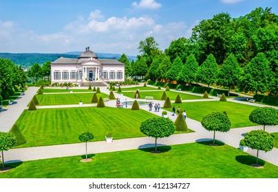 Garden pavilion of Melk abbey, Austria, Europe.