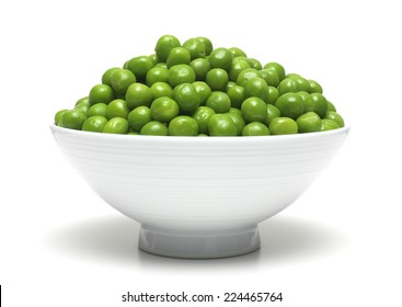 Garden Peas isolated in a bowl