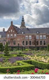 Garden of the Prinsenhof in Groningen, The Netherlands