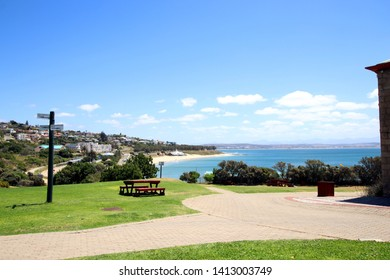 Garden Route Mossel Bay view to Beach from city Park