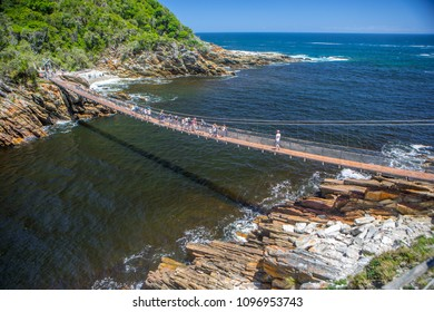 Garden Route National Park - Tsitsikamma/ South Africa - 12/27/2017. Suspension bridge