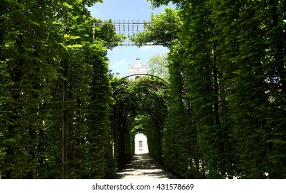 Garden, royal palace of Colorno, Parma - Italy
