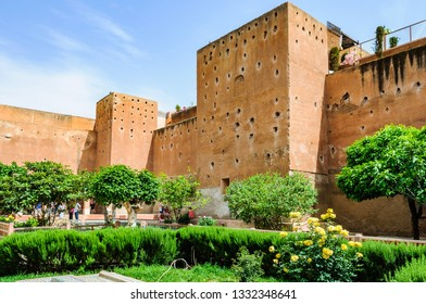 Garden of the Saadian Tombs in the Medina of Marrakech, Morocco