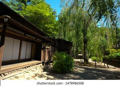Garden of the samurai residence in Kakunodate of Akita, Semboku, Akita, Japan : September 17, 2012