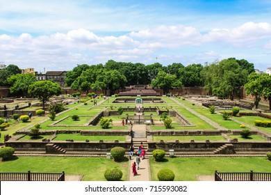 The garden of Shaniwar wada fort.
