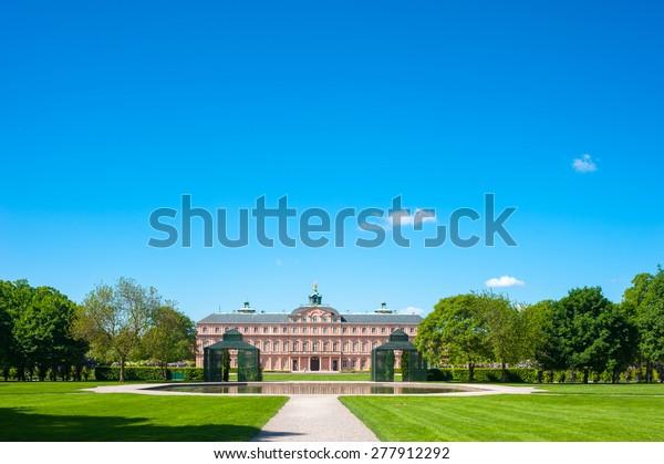 The garden side of the residence castle in Rastatt, Black Forest, Baden-Wurttemberg, Germany, Europe